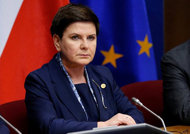 Beata Szydlo, primera ministra de Polonia