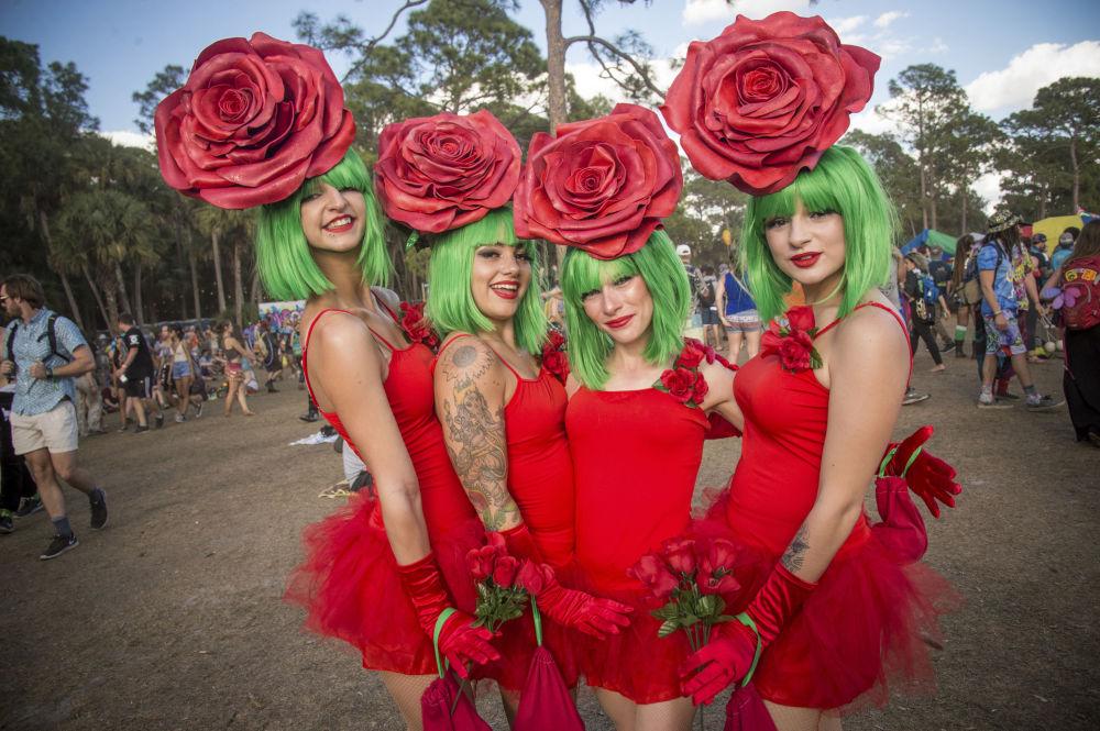 Los participantes del Festival de Música y Arte de Okeechobee, Florida