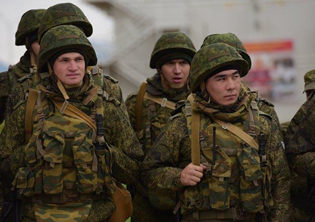 Militares rusos en Abjasia (archivo)