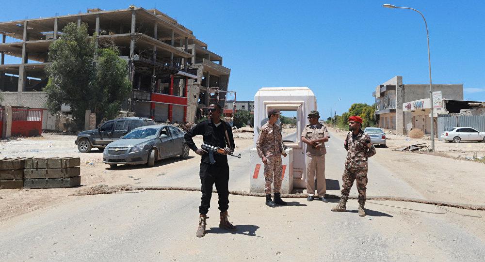 Miembros de las Fuerzas Armadas de Libia