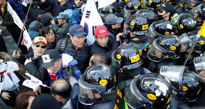 Los protestas en Seúl
