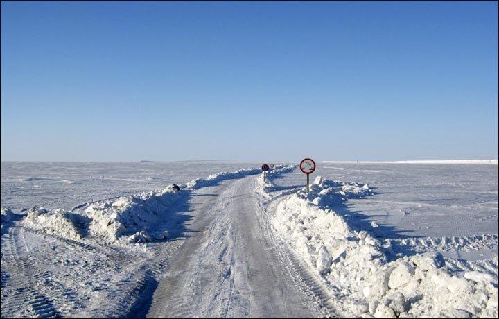 Un 'zímnik' en Chukotka