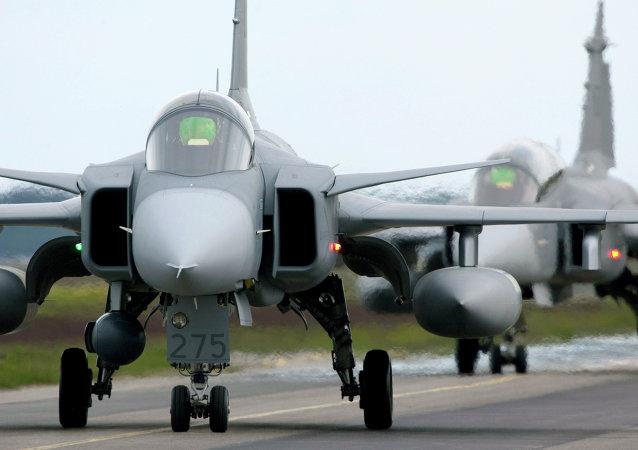Saab JAS 39 Gripen de la OTAN (archivo)