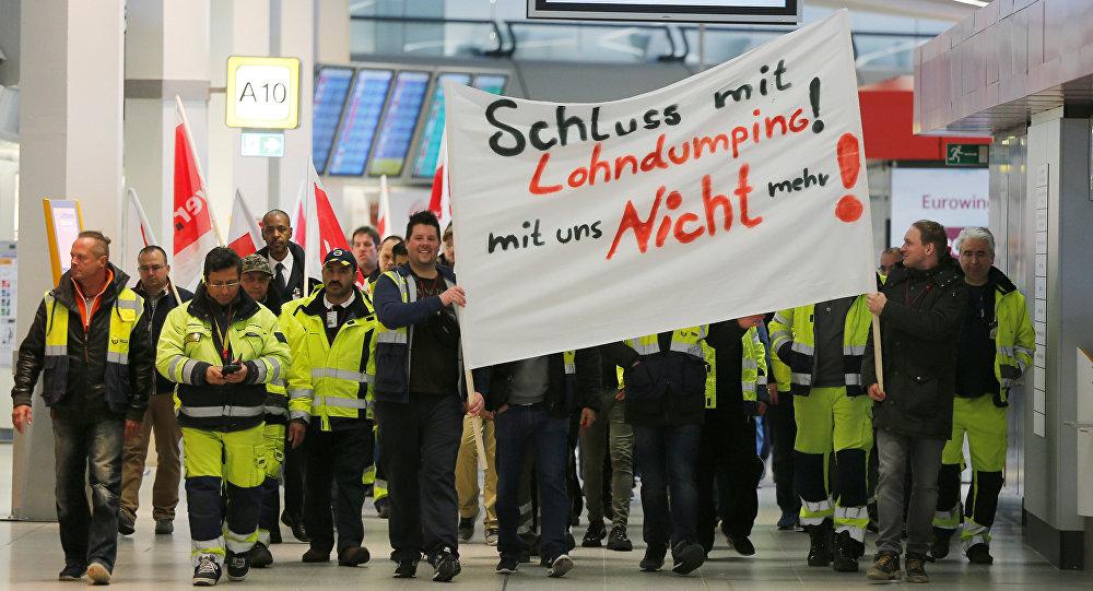Una huelga paraliza aeropuertos de Berlín