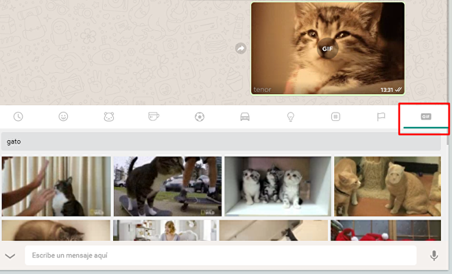 Trucos para WhatsApp: enviar GIFs sin descargarlos
