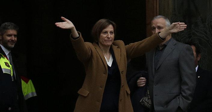 Presidenta del Parlamento catalán, Carme Forcadell (archivo)