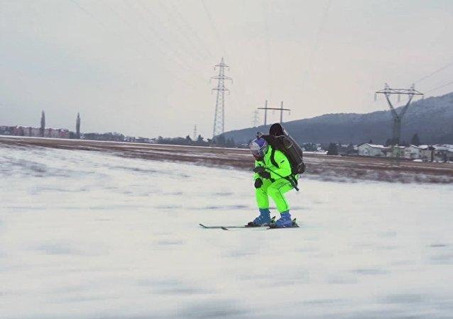 Esquiador a reacción
