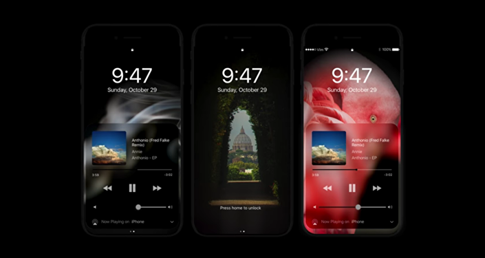 iPhone 8 Concept Video - Dark Mode on OLED screen