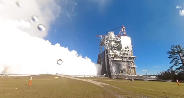 La NASA pone a prueba el motor del cohete más potente del mundo