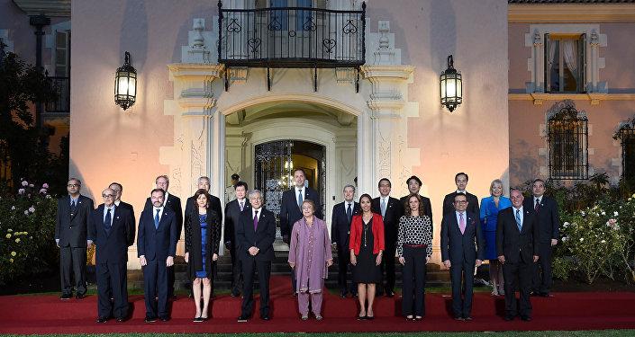 Participantes de la cumbre de la Alianza del Pacífico