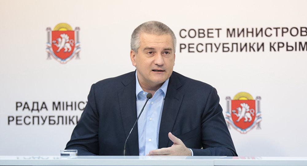 El jefe de la república rusa de Crimea, Serguéi Axiónov