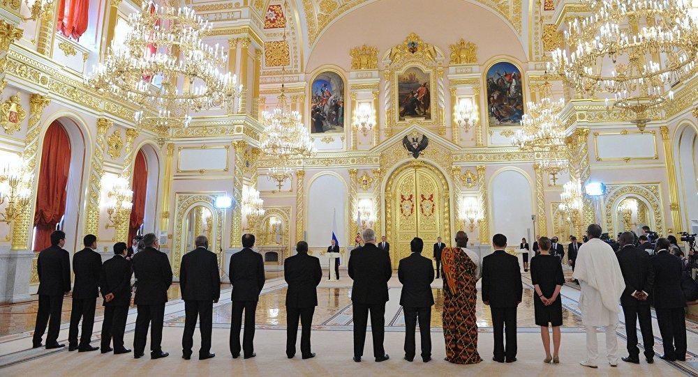Vladímir Putin, recibe las cartas credenciales de embajadores extranjeros