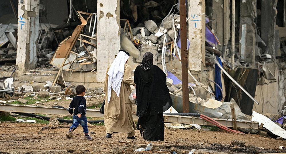 Iraquíes en Mosul