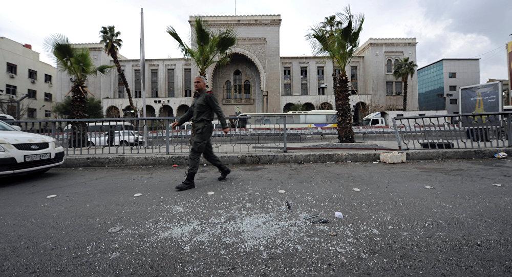 Palacio de Justicia en Damasco tras el atentado