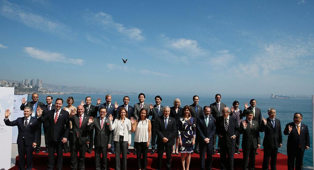 Participantes del cumbre de Alianza del Pacífico