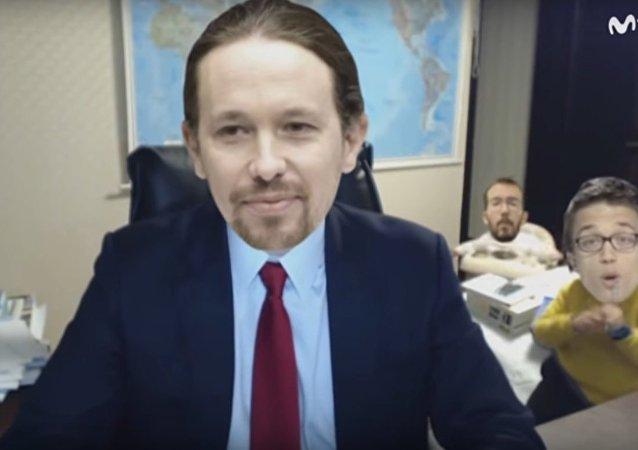 Captura de pantalla de la parodia dedicada a Podemos