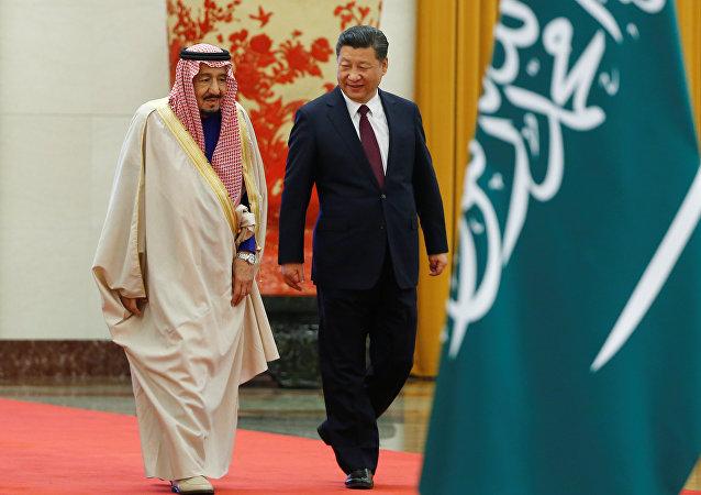 Rey de Arabia Saudí, Salmán bin Abdulaziz, presidente de China, Xi Jinping