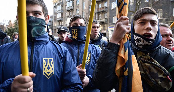 Los radicales ucranianos en Kiev