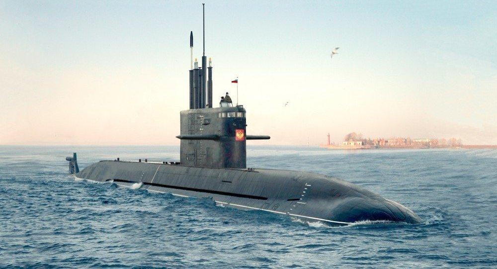 Un submarino de clase Amur 1650