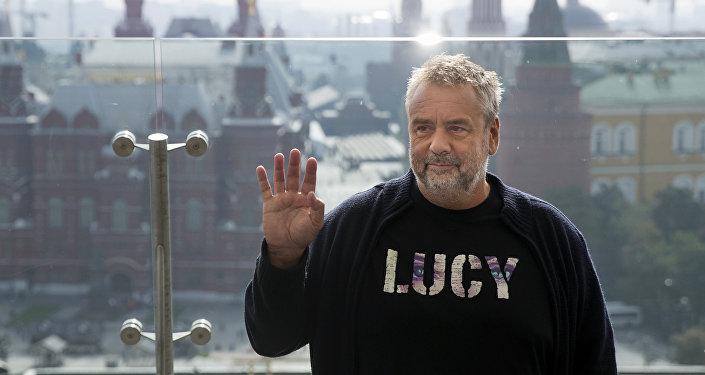 Luc Besson durante su visita a Moscú, en 2014