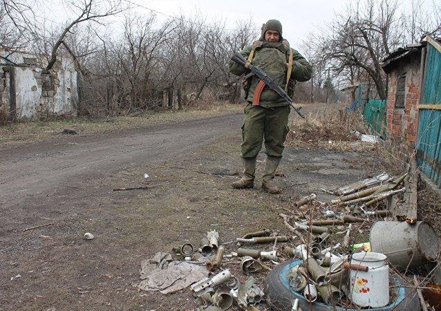 Un miliciano en Donbás