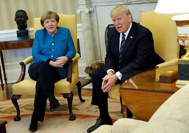 Angela Merkel, canciller alemana y Donald Trump, presidente de EEUU