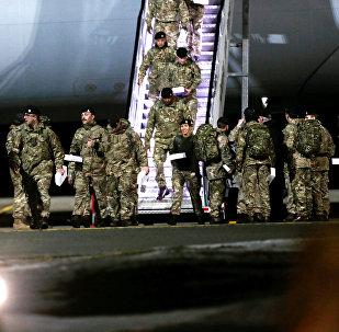 Soldados británicos de la OTAN en Estonia (archivo)
