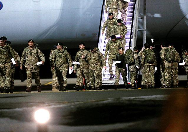 Militares británicos llegan a Estonia para participar en las maniobras de la OTAN (archivo)