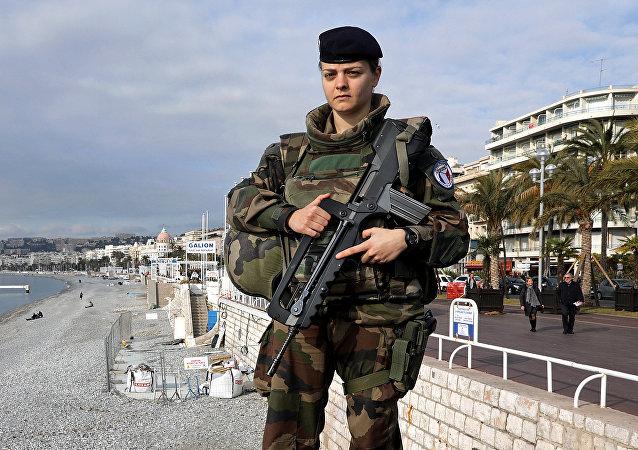 Una soldada francesa (archivo)