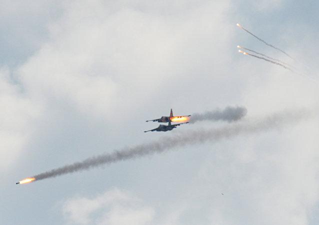 Aviones Su-25 (imagen referencial)