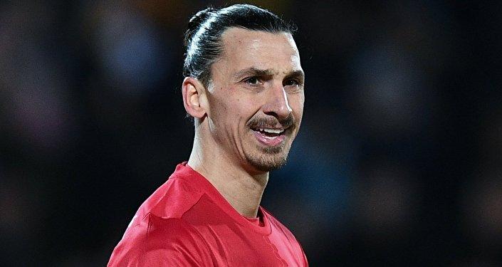 Zlatan Ibrahimovic, jugador sueco de fútbol
