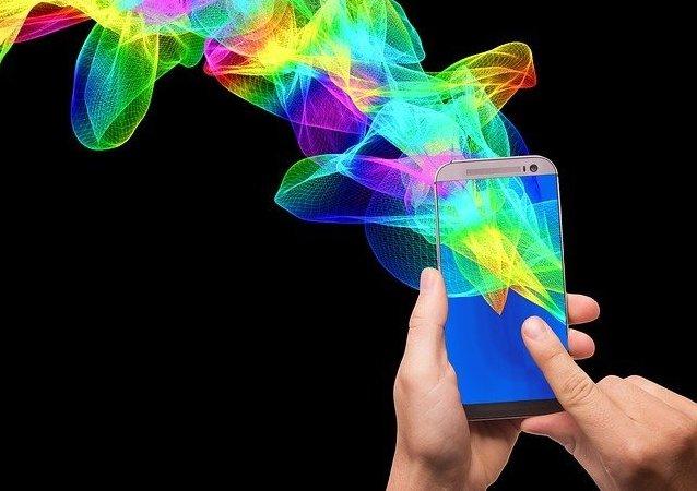 Ilustración gráfica de teléfonos inteligentes