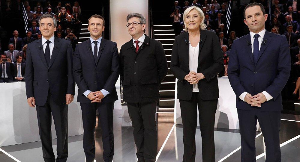 Los candidatos presidenciales de Francia