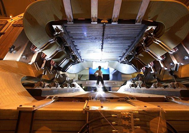 Detector LHCb del Gran Colisionador de Hadrones, 5 de septiembre de 2008