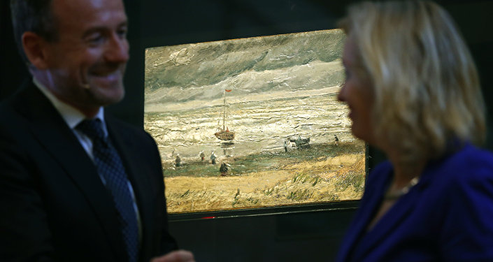 La marina de Scheveningen en el museo de Amsterdam