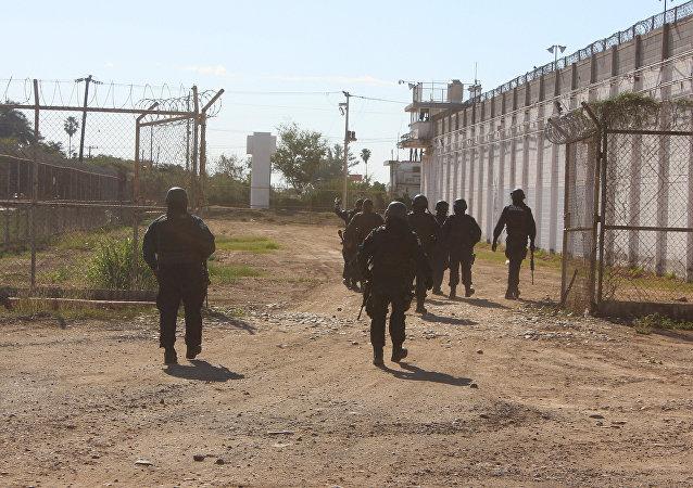 Policía mexicana en Culiacán