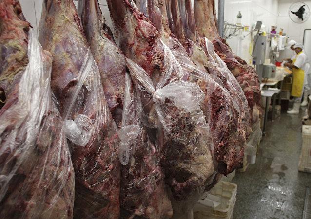 Una fábrica de carne en Brasil