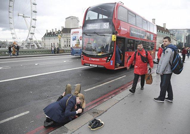 Tiroteo en el puente de Westminster en Londres
