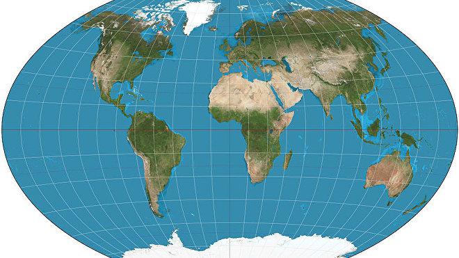 Proyección cartográfica del planeta Tierra ideada por Oswald Winkel en 1921.