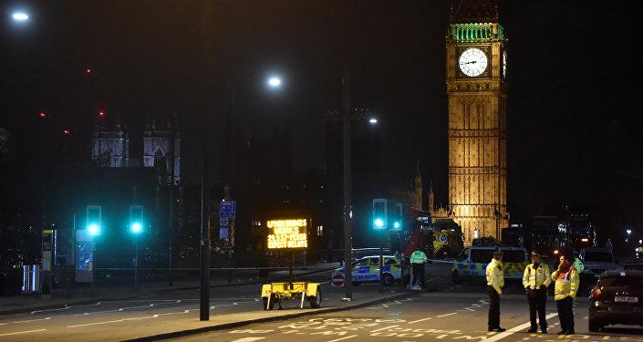 El lugar del atentado en el puente de Westminster (archivo)