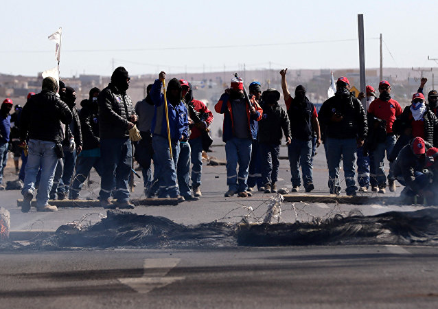Huelga de trabajadores de BHP Billiton en Chile