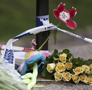 Flores y cartas en el lugar del atentado en el centro de Londres, Reino Unido