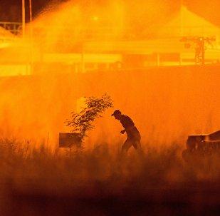 Incendio en Ucrania (archivo)