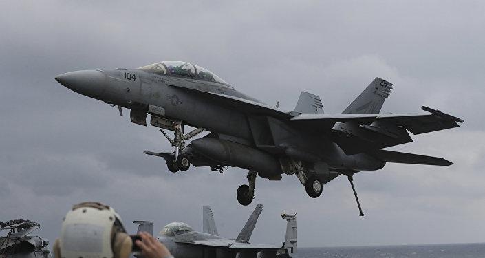 Un F/A-18E de la Armada de EEUU