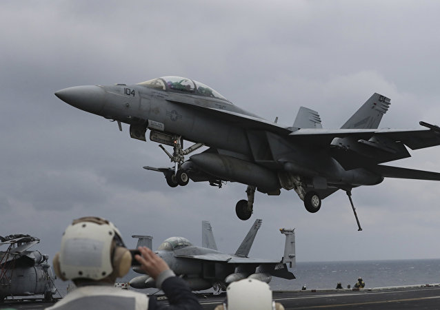 Un F/A-18 Hornet (archivo)