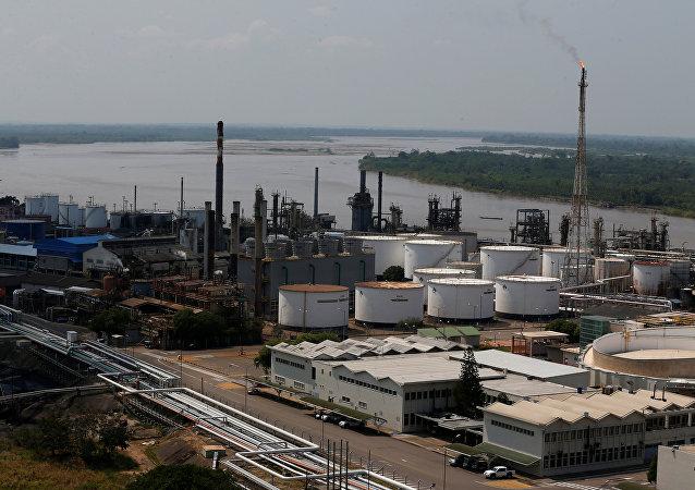 Refinería de petróleo de Ecopetrol en Colombia (archivo)