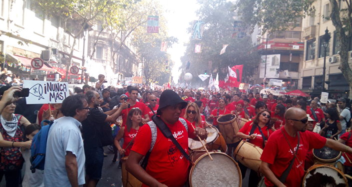 Marcha en recuerdo del golpe de Estado en Buenos Aires