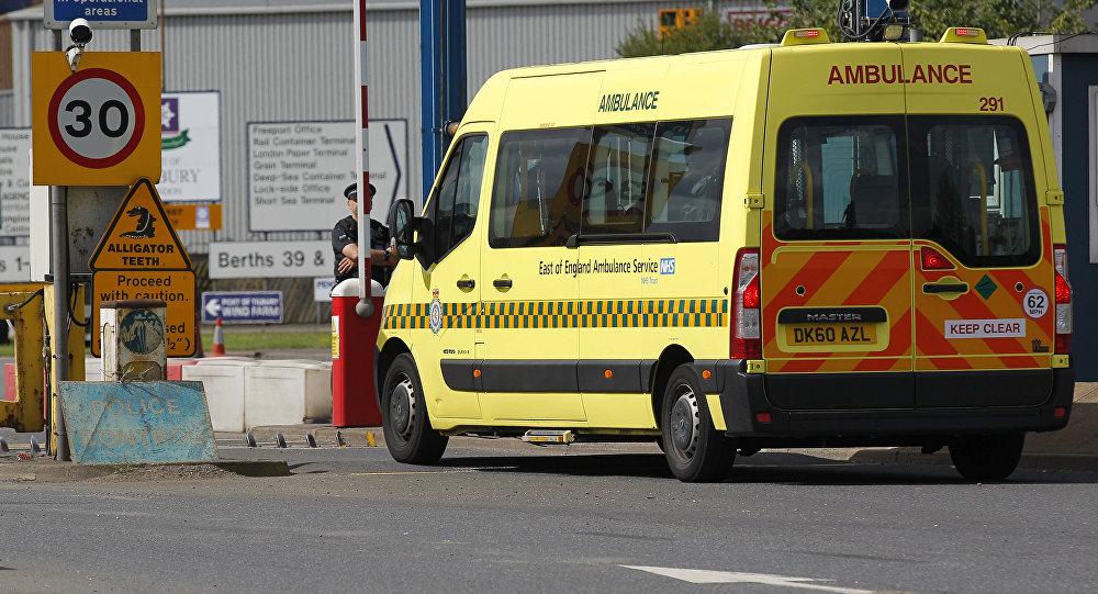 Una ambulancia británica