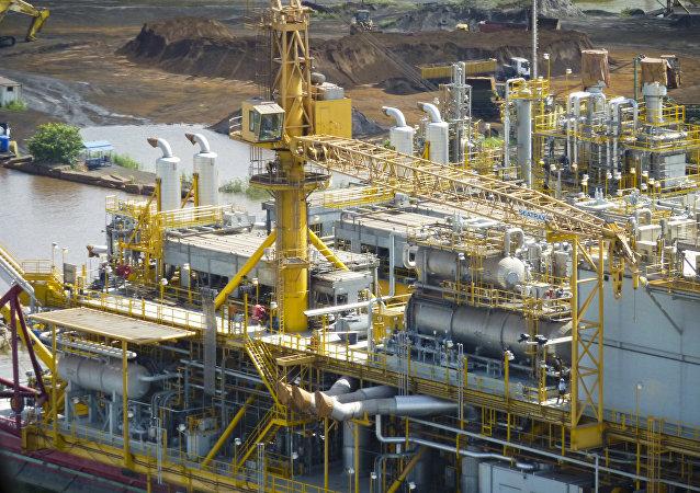 Una plataforma petrolífera de PDVSA en la Faja del Orinoco