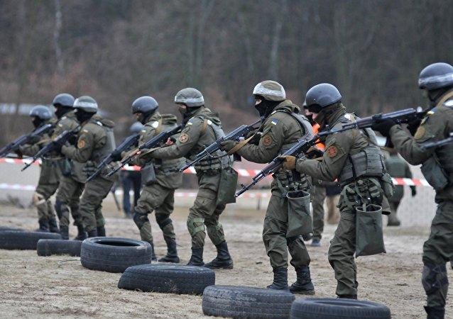 Soldados ucranianos, entrenamiento de la OTAN (archivo)